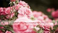 فوائد سبحان الله وبحمده سبحان الله العظيم