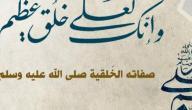 من صفات النبي صلى الله عليه وسلم