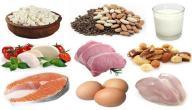 أطعمة تحتوي على البروتينات