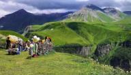 أين تقع جبال القوقاز