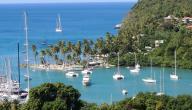 أين تقع جزيرة سانت لوسيا
