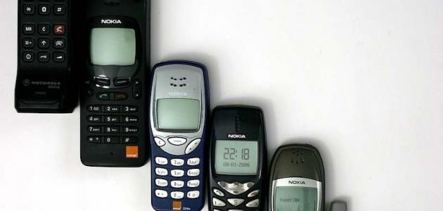 آخر أنواع الهواتف النقالة