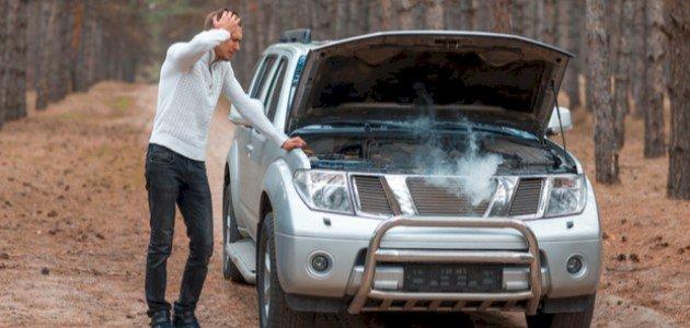 ارتفاع حرارة السيارة فجأة