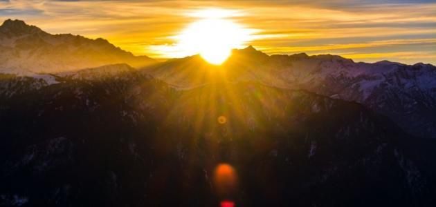 عبارات عن شروق الشمس