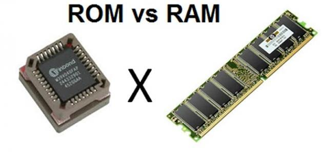 الفرق بين الذاكرة ram والذاكرة rom