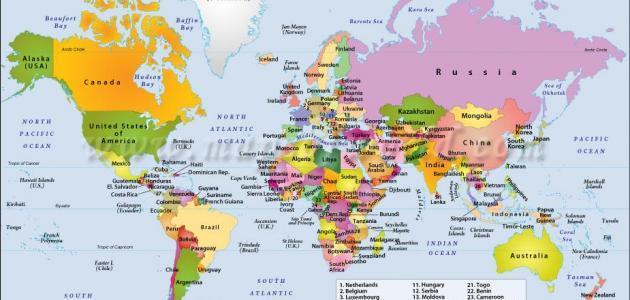 دول العالم عواصمها وعملاتها حياتك