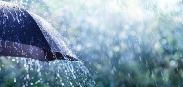 وصف ظاهرة المطر