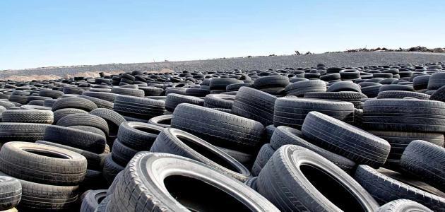 إعادة تدوير عجلات السيارات