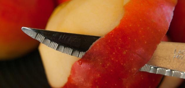 أضرار قشر التفاح