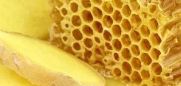فوائد العسل مع الزنجبيل على السرة